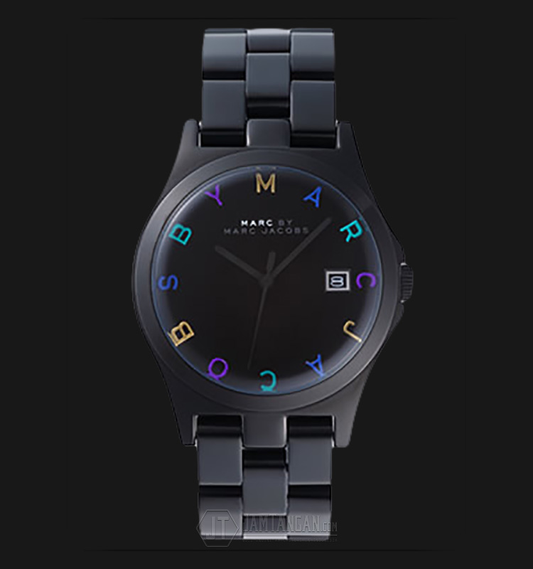 Marc Jacobs MBM8601 Hendry Black Dial Black Stainless Steel Watch Machtwatch