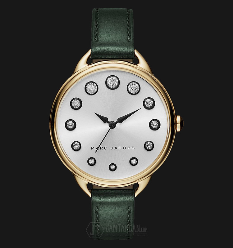 Marc Jacobs MJ1477 Betty Silver Dial Dark Green Leather Strap Watch Machtwatch