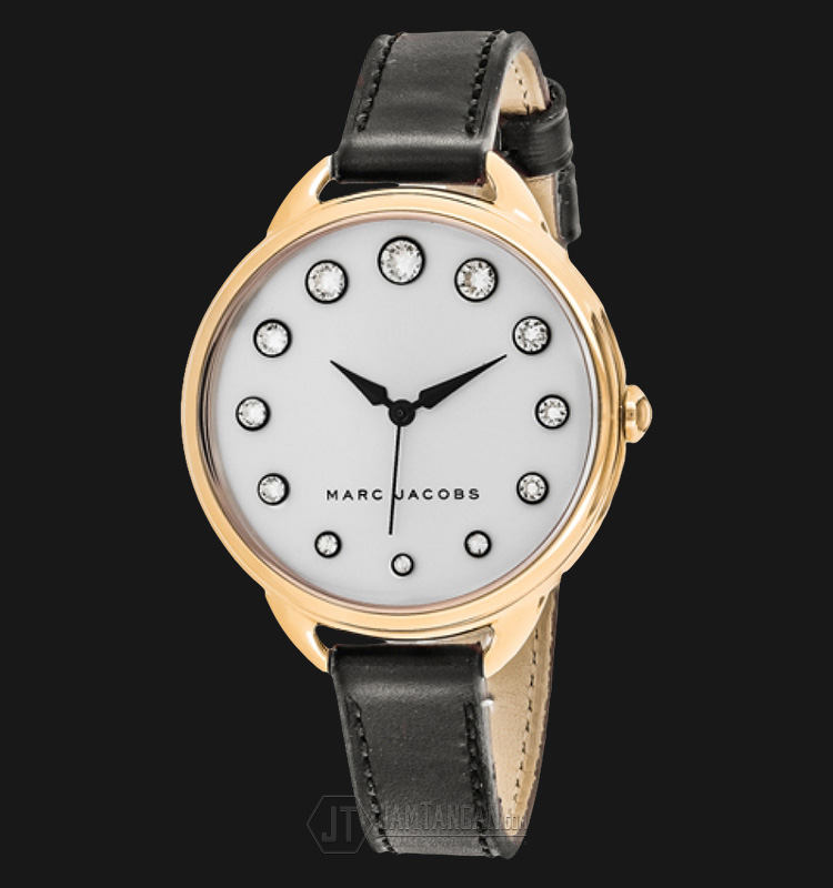 Marc Jacobs MJ1479 Betty Silver Dial Black Leather Strap Watch Machtwatch