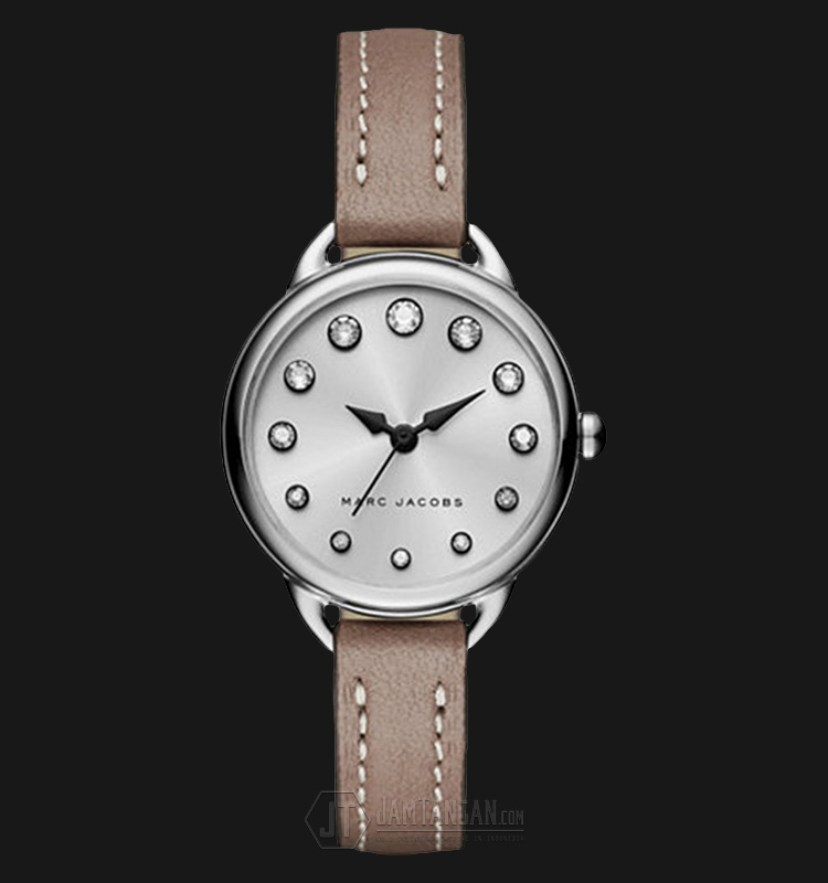 Marc Jacobs MJ1480 Betty Silver Dial Cement Leather Strap Watch Machtwatch