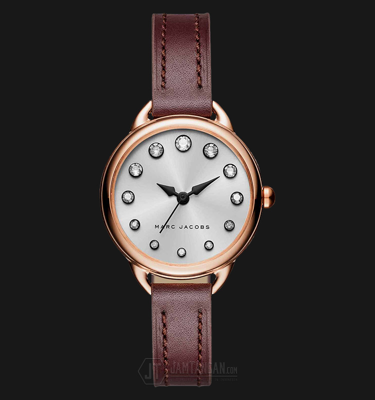 Marc Jacobs MJ1481 Betty Silver Dial Rose Leather Strap Watch Machtwatch