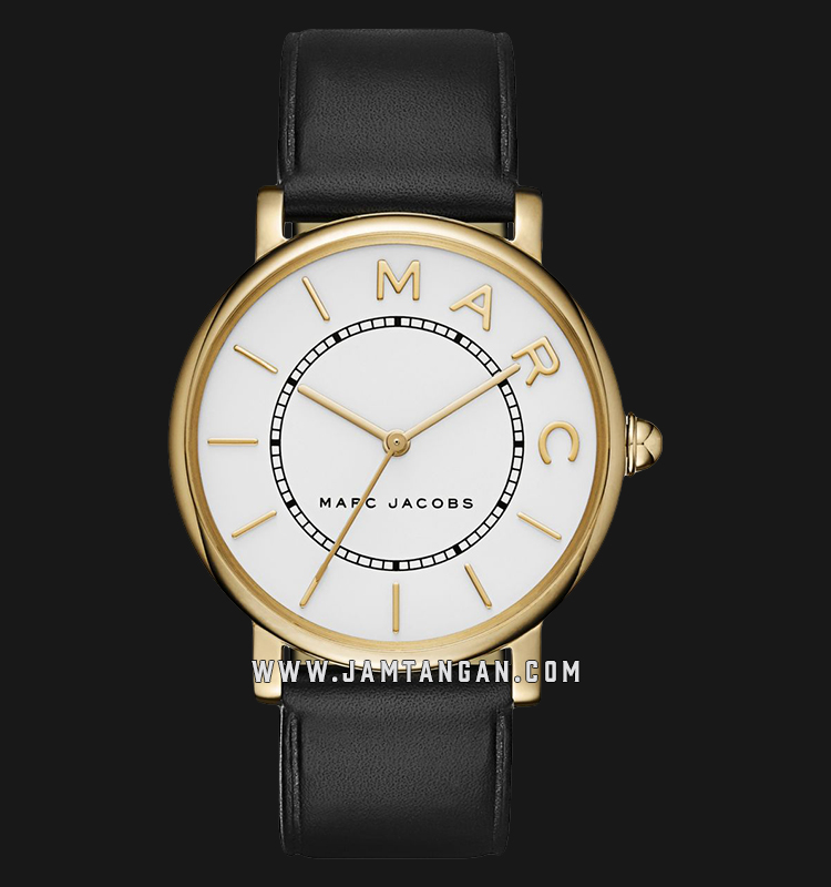 Marc Jacobs Roxy MJ1532 Ladies White Dial Black Leather Strap Machtwatch