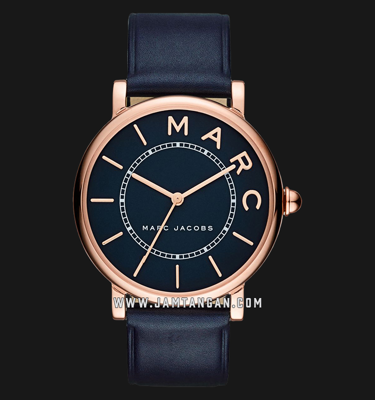 Marc Jacobs Roxy MJ1534 Ladies Navy Dial Navy Leather Strap Machtwatch