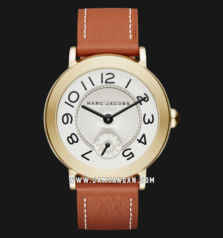 Marc Jacobs Riley MJ1574 Silver Dial Brown Leather Strap Machtwatch