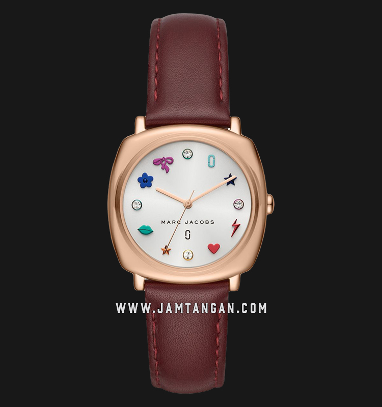 Marc Jacobs Mandy MJ1598 Ladies Silver Dial Brown Leather Strap Machtwatch