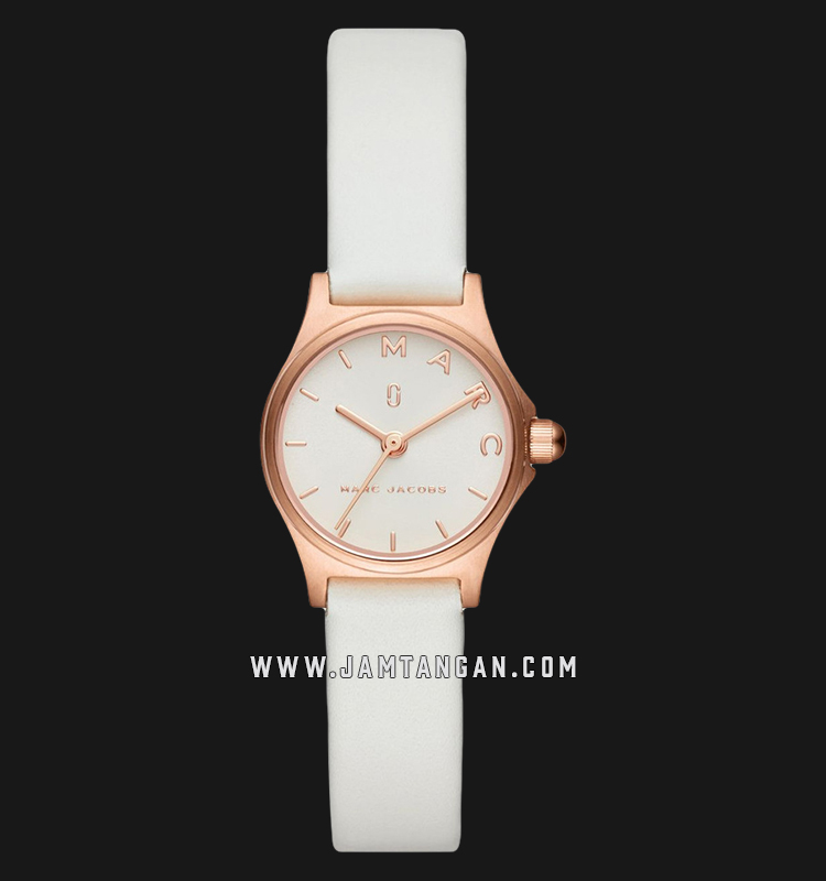 Marc Jacobs Henry MJ1610 Ladies White Dial White Leather Strap Machtwatch