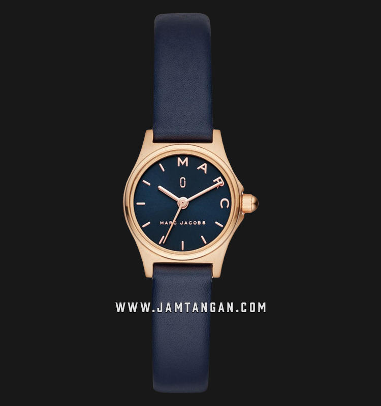 Marc Jacobs Henry MJ1611 Blue Dial Blue Leather Strap Machtwatch