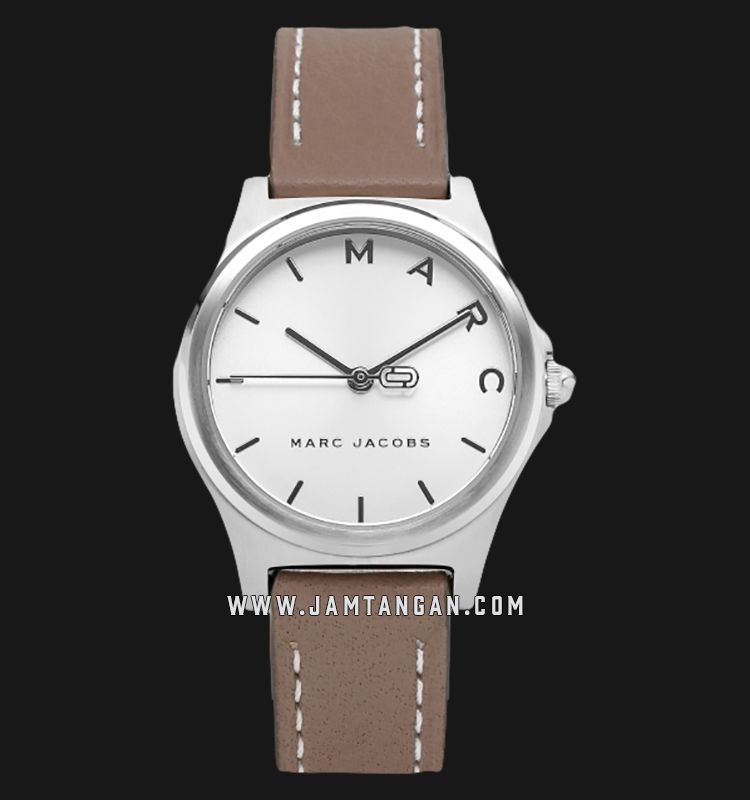 Marc Jacobs Henry MJ1643 Silver Dial Tan Leather Strap Machtwatch