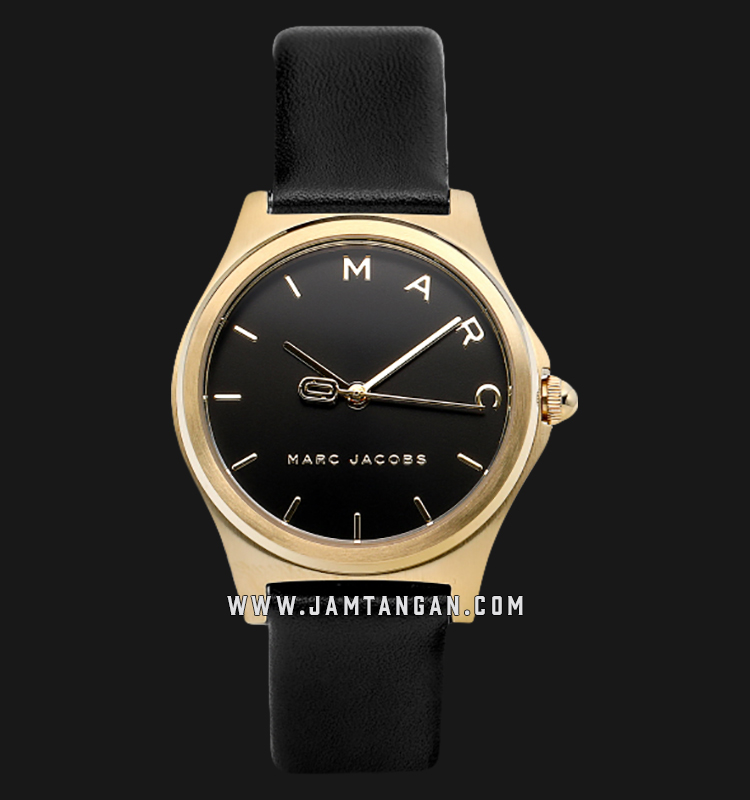 Marc Jacobs Henry MJ1644 Black Dial Black Leather Strap Machtwatch