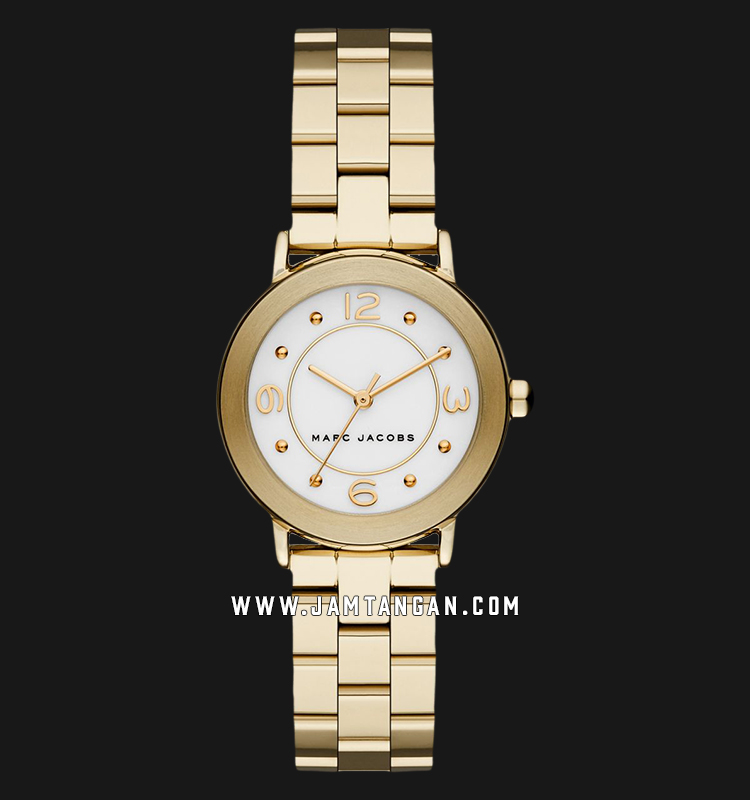 Marc Jacobs Riley MJ3473 Silver Dial Gold Stainless Steel Strap Machtwatch