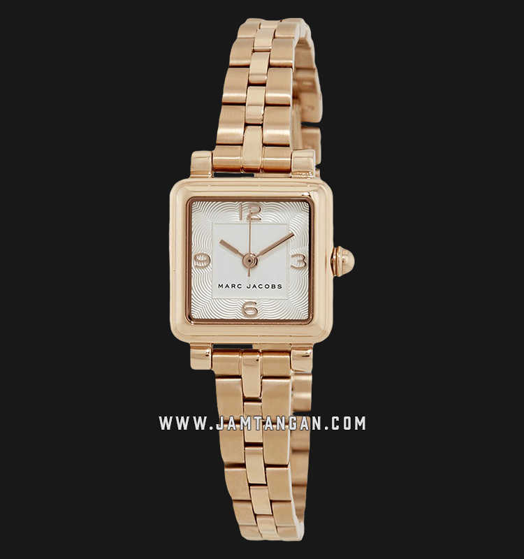 Marc Jacobs Vic MJ3530 Silver Dial Rose Gold Stainless Steel Strap Machtwatch