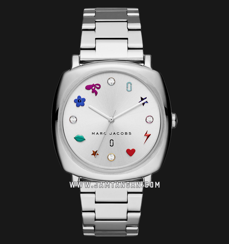Marc Jacobs Mandy MJ3548 Ladies Silver Dial Stainless Steel Strap Machtwatch