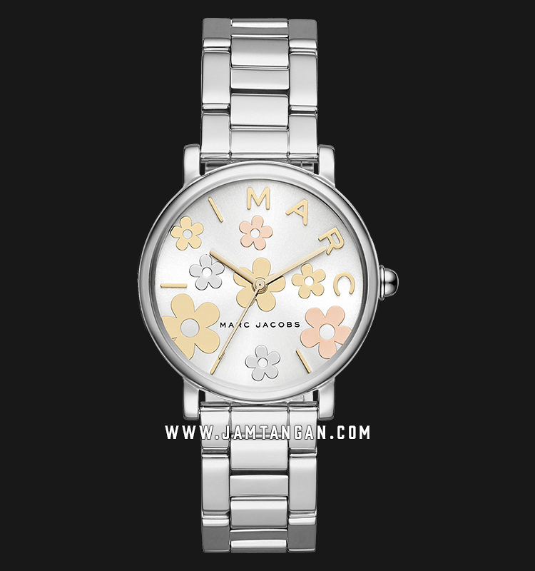 Marc Jacobs Riley MJ3579 Dual Tone Flower Motif Dial Stainless Steel Strap Machtwatch