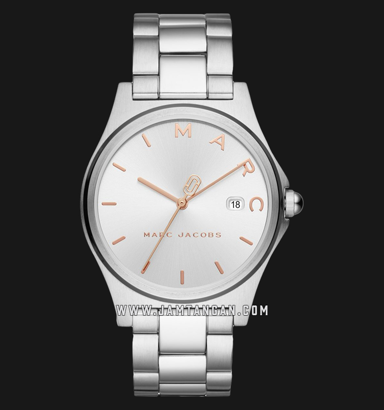 Marc Jacobs Henry MJ3583 Ladies Silver Dial Stainless Steel Strap Machtwatch