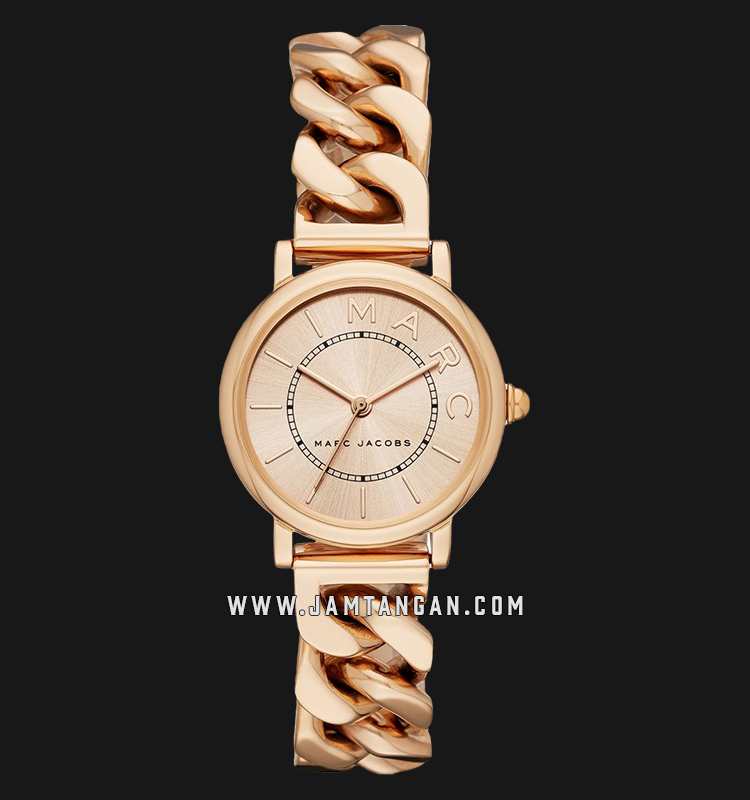 Marc Jacobs Roxy MJ3595 Ladies Rose Gold Dial Rose Gold Stainless Steel Strap Machtwatch