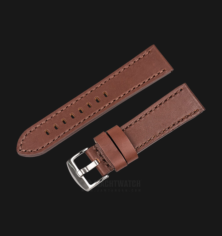 Strap Martini Rowdy 24mm Cognag Leather Silver Buckle C13808-24X22 Machtwatch