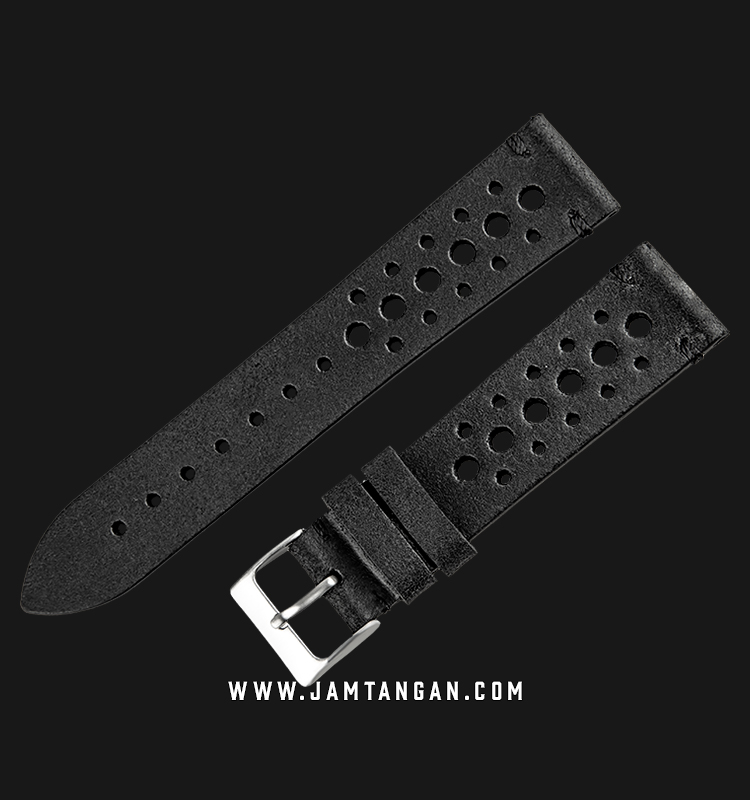 Strap Martini 50s Leather 20mm Black Leather Silver Buckle C17501-20X18 Machtwatch