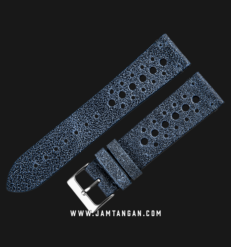 Strap Martini 50s Leather 22mm Navy Leather Silver Buckle C17508-22X20 Machtwatch