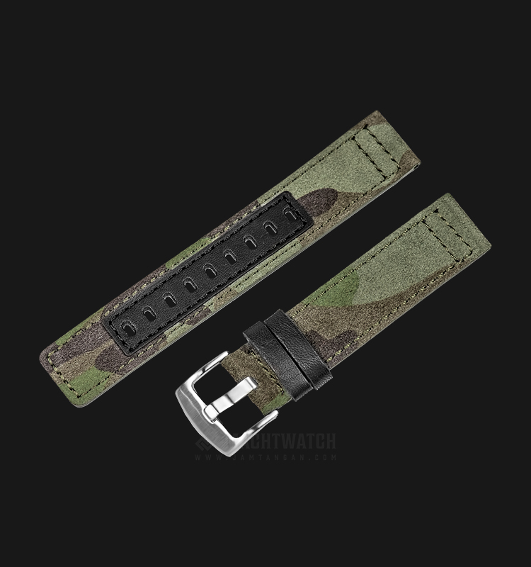 Strap Martini Fano 20mm Camouflage Leather Silver Buckle C17601-20X20 Machtwatch