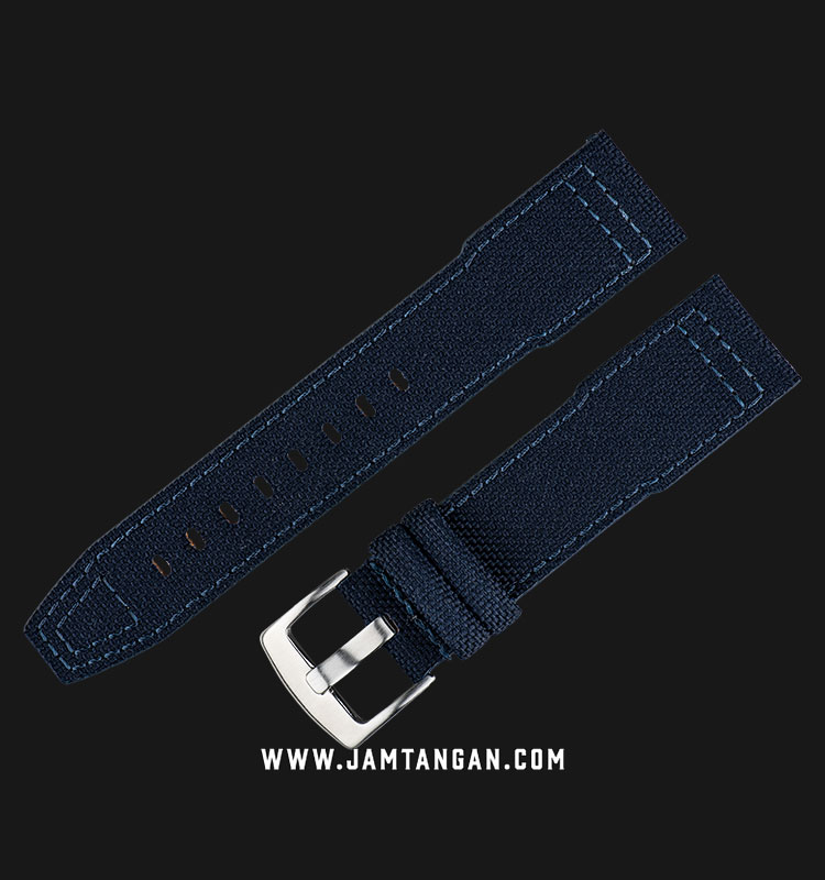 Strap Martini Cordura Nylon 22mm Denim Fabric Silver Buckle I11505-22X20 Machtwatch