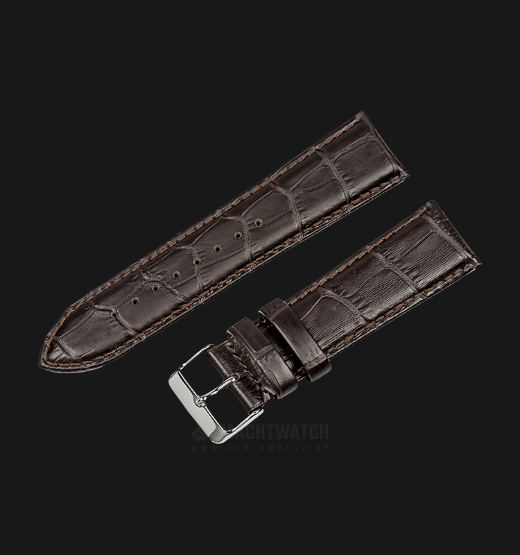 Strap Martini South Africa 24mm Chocolate Leather Silver Buckle P21203-ML-24X22 Machtwatch