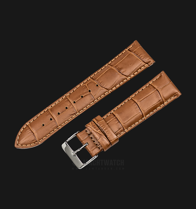 Strap Martini South Africa 22mm Tan Leather Silver Buckle P21204-ML-22X20 Machtwatch