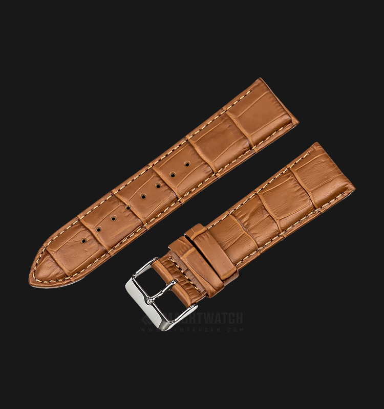 Strap Martini South Africa 24mm Brown Leather Silver Buckle P21204-ML-24X22 Machtwatch