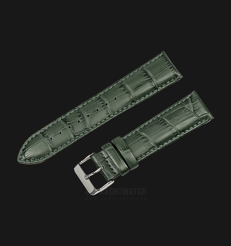 Strap Martini South Africa 22mm Green Leather Silver Buckle P21207-ML-22X20 Machtwatch