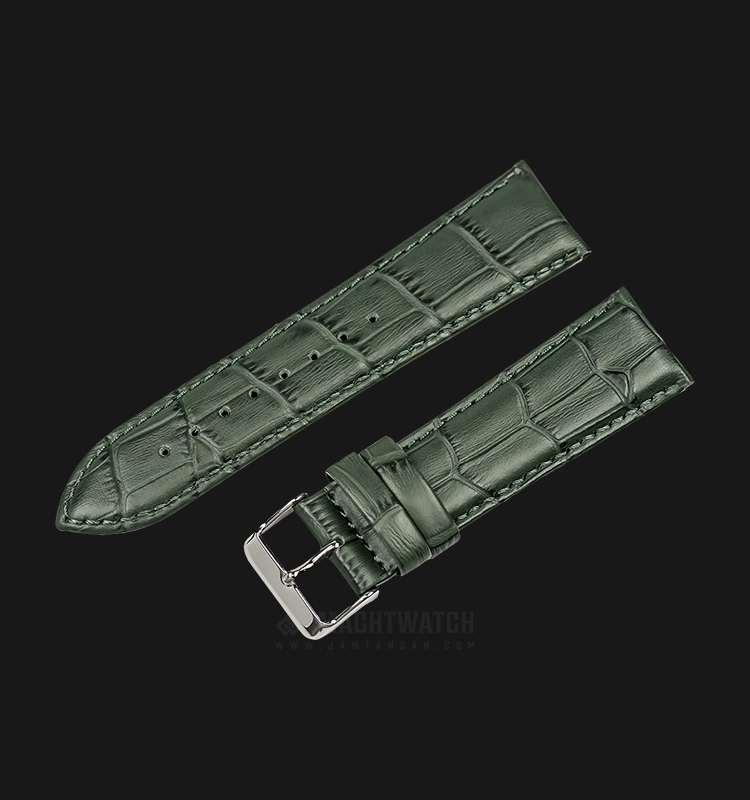 Strap Martini South Africa 24mm Green Leather Silver Buckle P21207-ML-24X22 Machtwatch