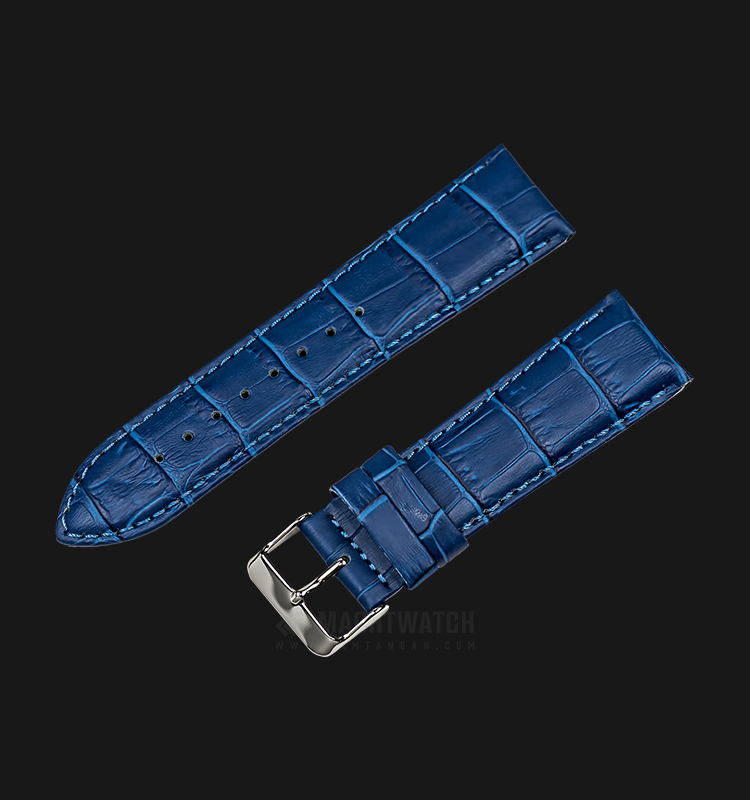 Strap Martini South Africa 24mm Blue Leather Silver Buckle P21208-24X22 Machtwatch