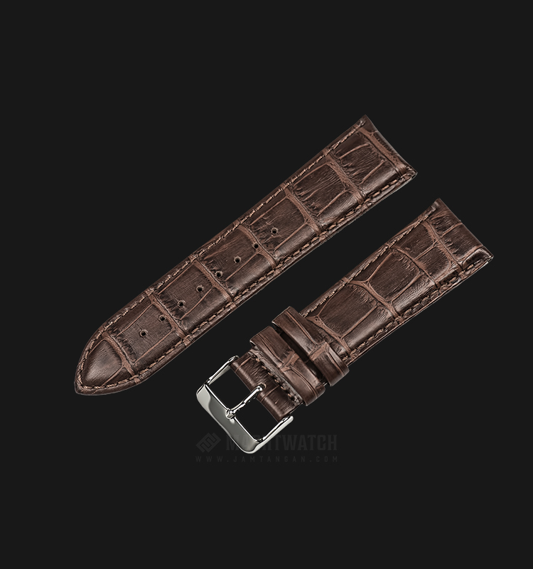 Strap Martini South Africa 24mm Dark Brown Leather Silver Buckle P21211-ML-24X22 Machtwatch