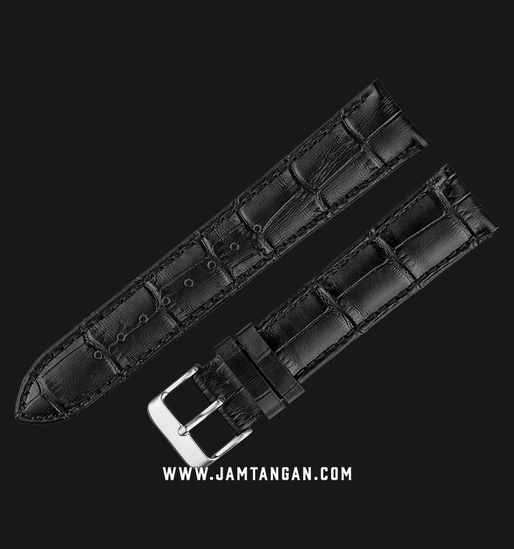 Strap Martini South Africa 20mm Black Leather Silver Buckle P22201-20X18 Machtwatch