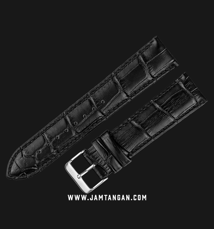 Strap Martini South Africa 22mm Black Leather Silver Buckle P22201-22X20 Machtwatch