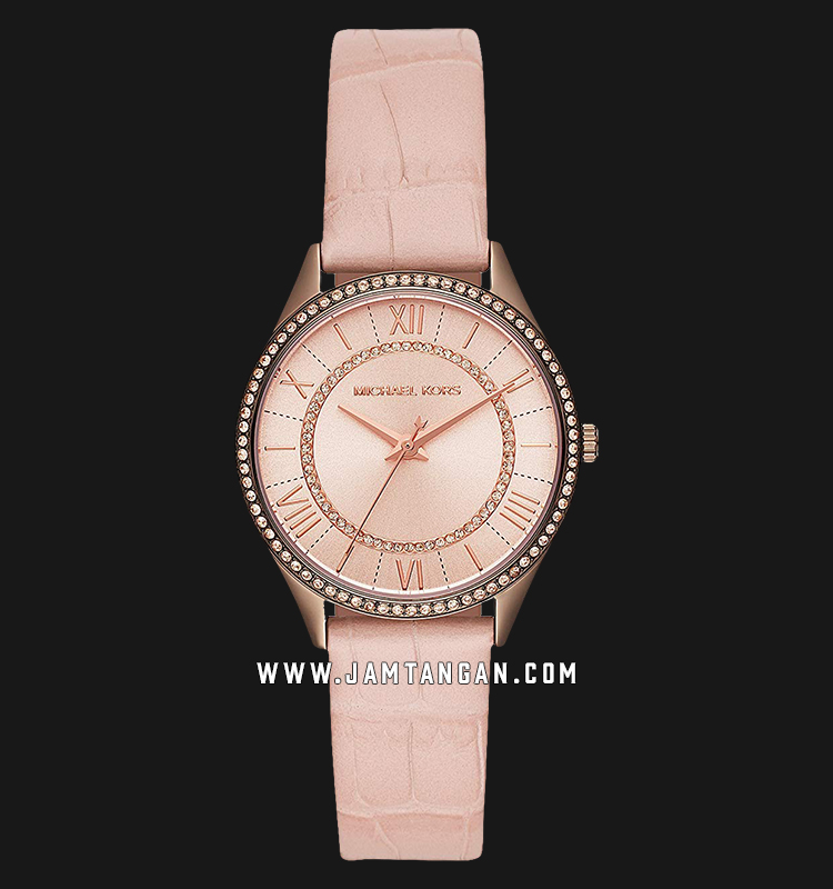 Michael Kors MK2722 Lauryn Ladies White Rose Gold Dial Blush Leather Strap Machtwatch