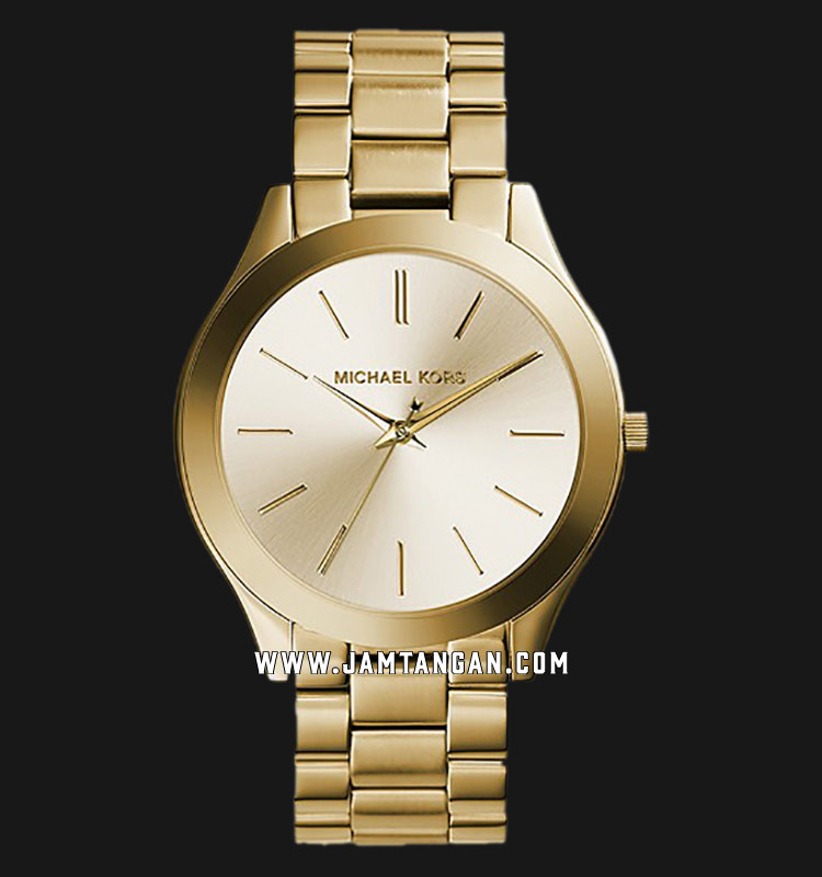 Michael Kors MK3179 Runway Gold Dial Gold Stainless Steel Strap Machtwatch