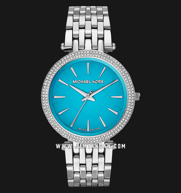 Michael Kors MK3403 Darci Ladies Turquoise Dial Stainless Steel Strap Limited Edition Machtwatch