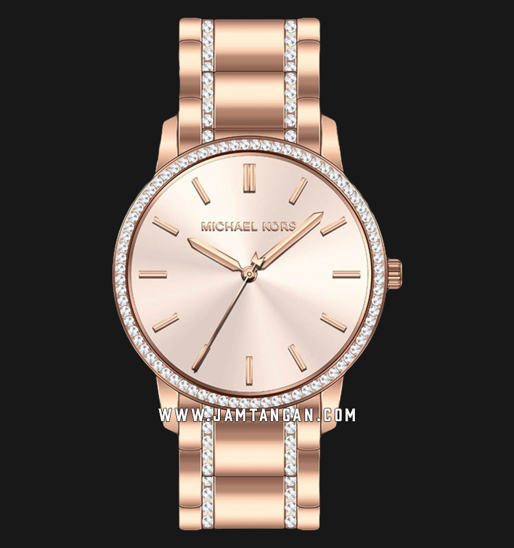 Michael Kors MK3538 Ladies Rose Gold Dial Rose Gold Stainless Steel Machtwatch
