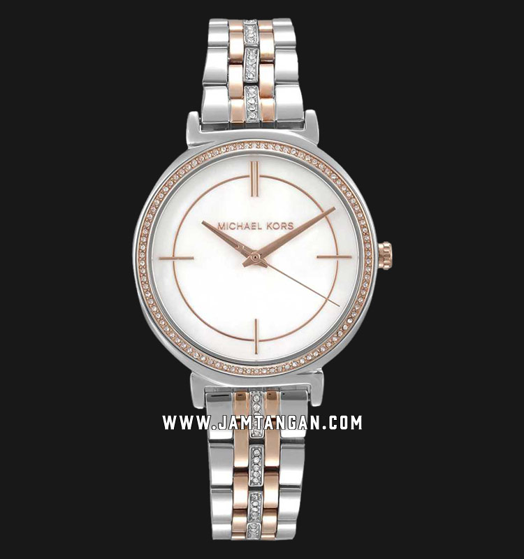Michael Kors MK3831 Cinthia Mother of Pearl Dial Dual Tone Stainless Steel Strap Machtwatch