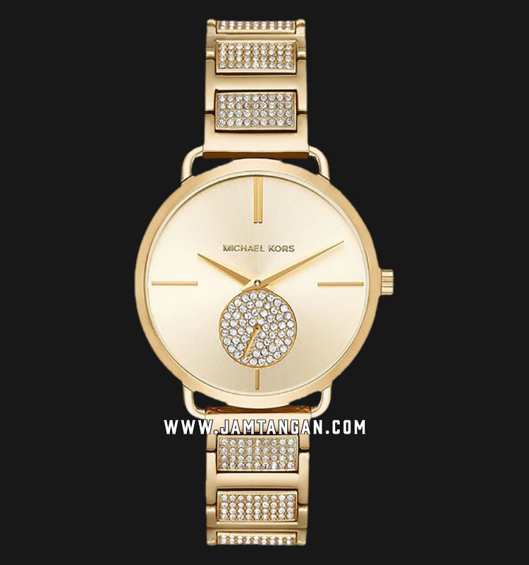 Michael Kors MK3852 Portia Gold Dial Gold Stainless Strap Strap Machtwatch