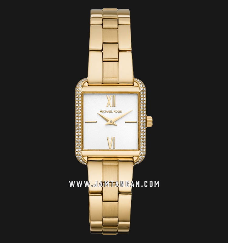 Michael Kors MK3949 Lake White Dial Gold Stainless Steel Strap Machtwatch