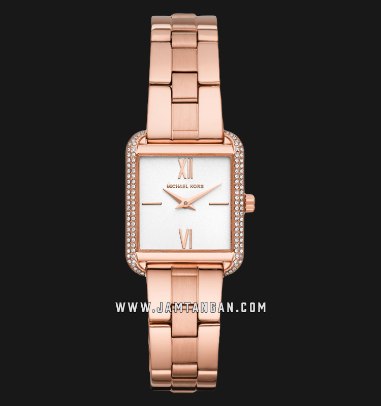 Michael Kors MK3950 Lake White Dial Rose Gold Stainless Steel Strap Machtwatch