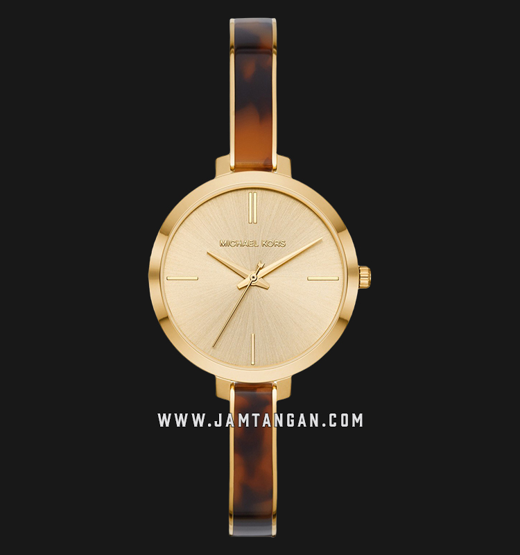 Michael Kors Jaryn MK4341 Gold Dial Dual Tone Stainless Steel Strap Machtwatch