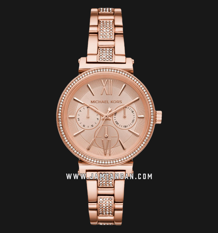 Michael Kors Sofie MK4354 Rose Gold Dial Rose Gold Stainless Steel Strap Machtwatch