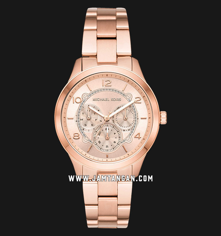 Michael Kors MK6589 Runway Rose Gold Dial Rose Gold Stainless Steel Strap Machtwatch