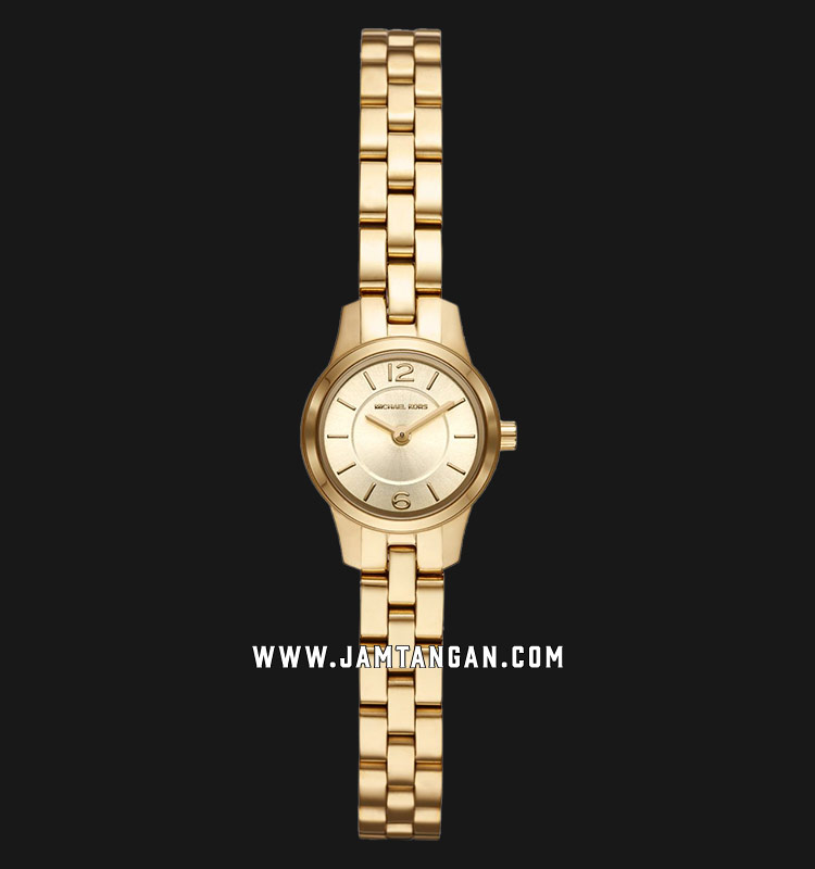 Michael Kors MK6592 Runway Gold Dial Gold Stainless Steel Strap Machtwatch