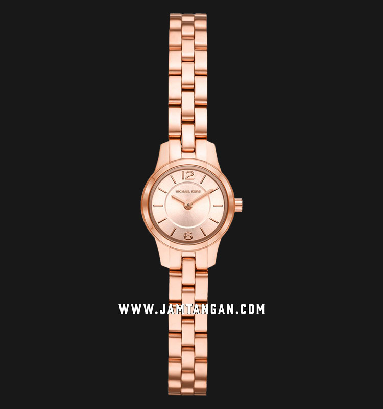 Michael Kors MK6593 Runway Rose Gold Dial Rose Gold Stainless Steel Strap Machtwatch