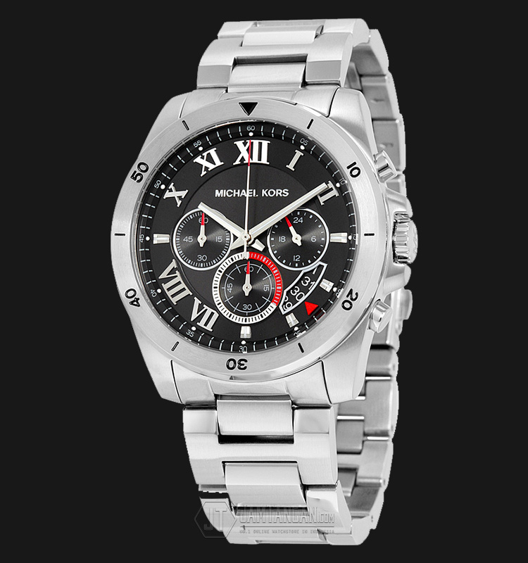 Michael Kors MK8438 Brecken Chronograph Black Dial Two-tone Stainless Steel Machtwatch