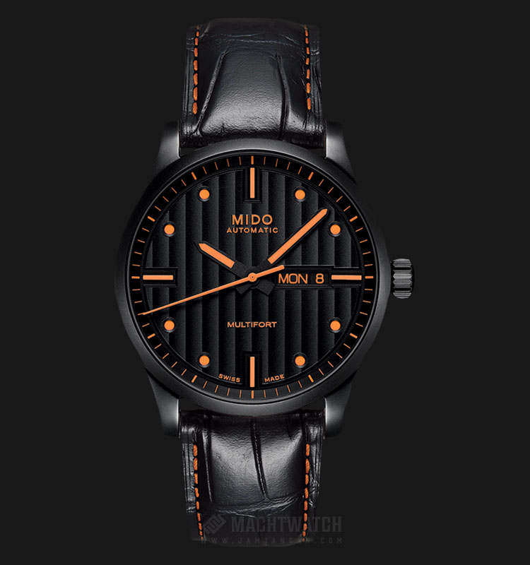 Mido M005.430.36.051.80 Multifort Automatic Black Dial Black Leather Strap Machtwatch