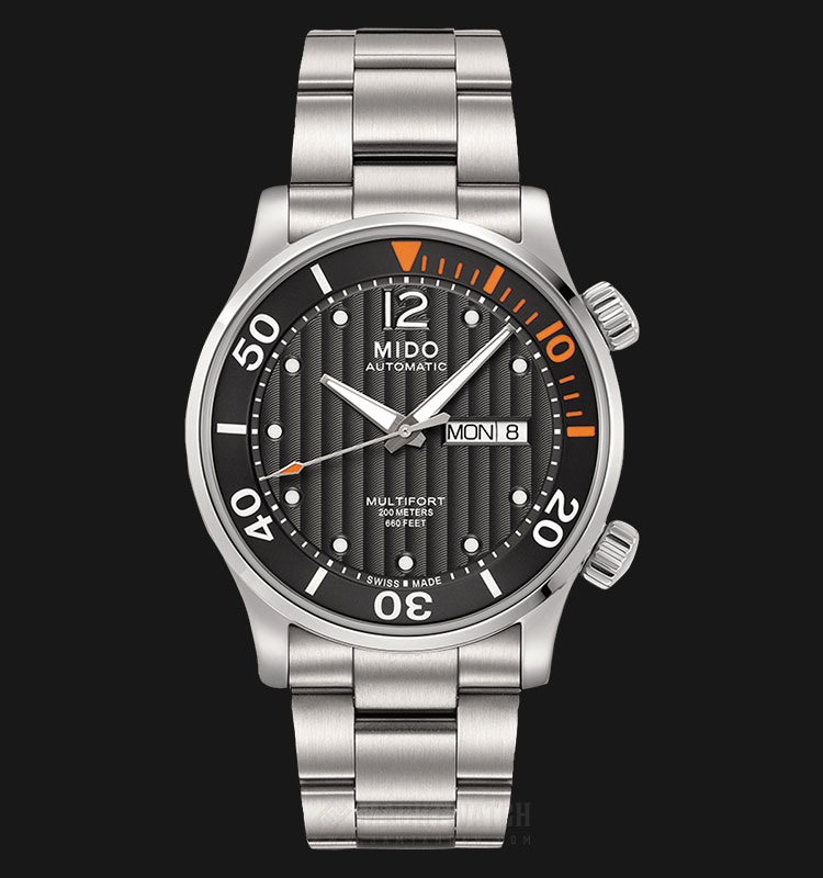 Mido M005.930.11.060.80 Multifort Automatic Black Dial Stainless Steel Strap Machtwatch
