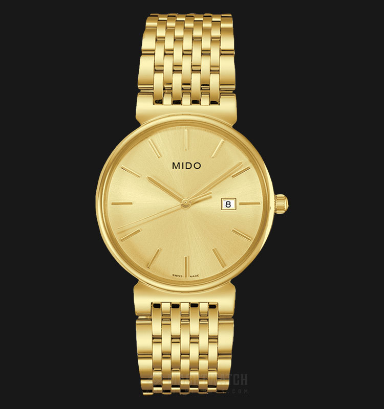 Mido M009.610.33.021.00 Dorada Gold Dial Gold Stainless Steel Strap Machtwatch